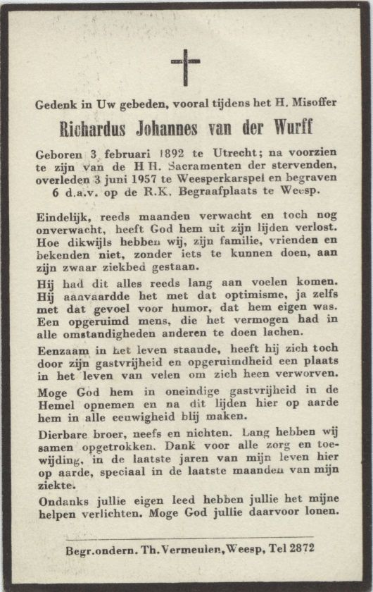 Richardus Johannes 1892-1957